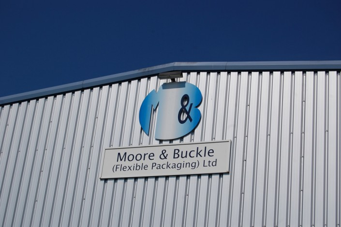 Moore & Buckle Factory Sign
