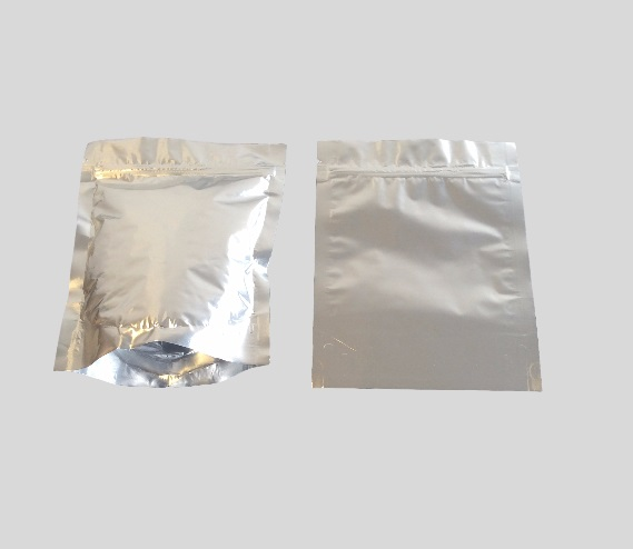Here is a doy pack with re-sealable gripper made with a foil laminate