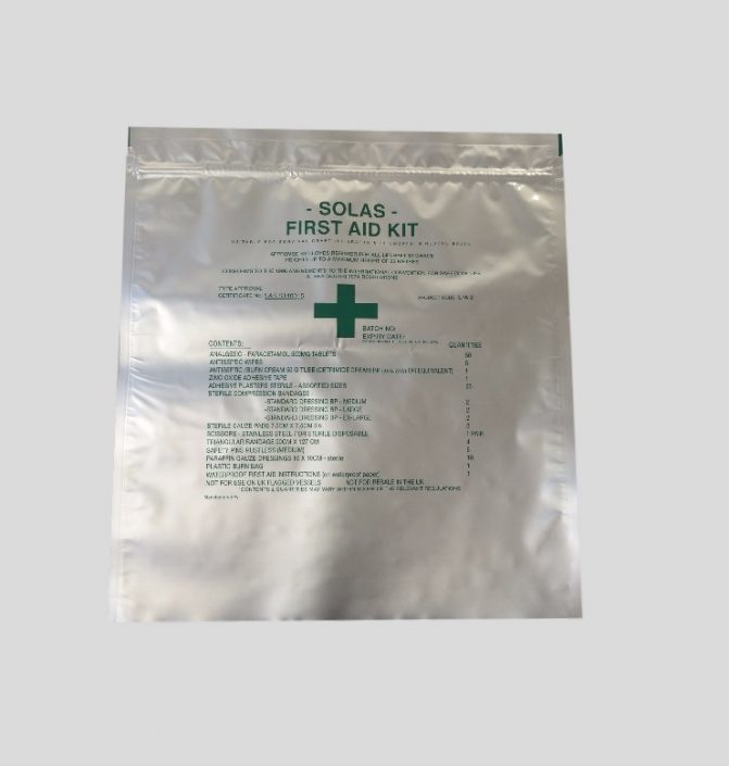 This is a a Re-Sealable Gripper Pouch for a First Aid Kit