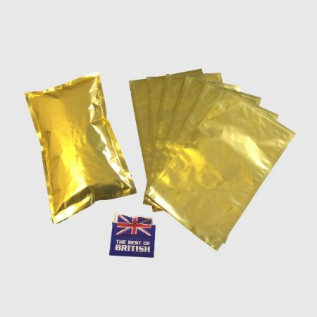 A 3 Side Seal Pouch in Gold which will hold approx. 1kg of coffee