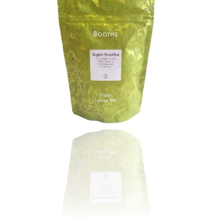 Printed Doy Pack with Re-Sealable Gripper packing Fresh Loose Tea