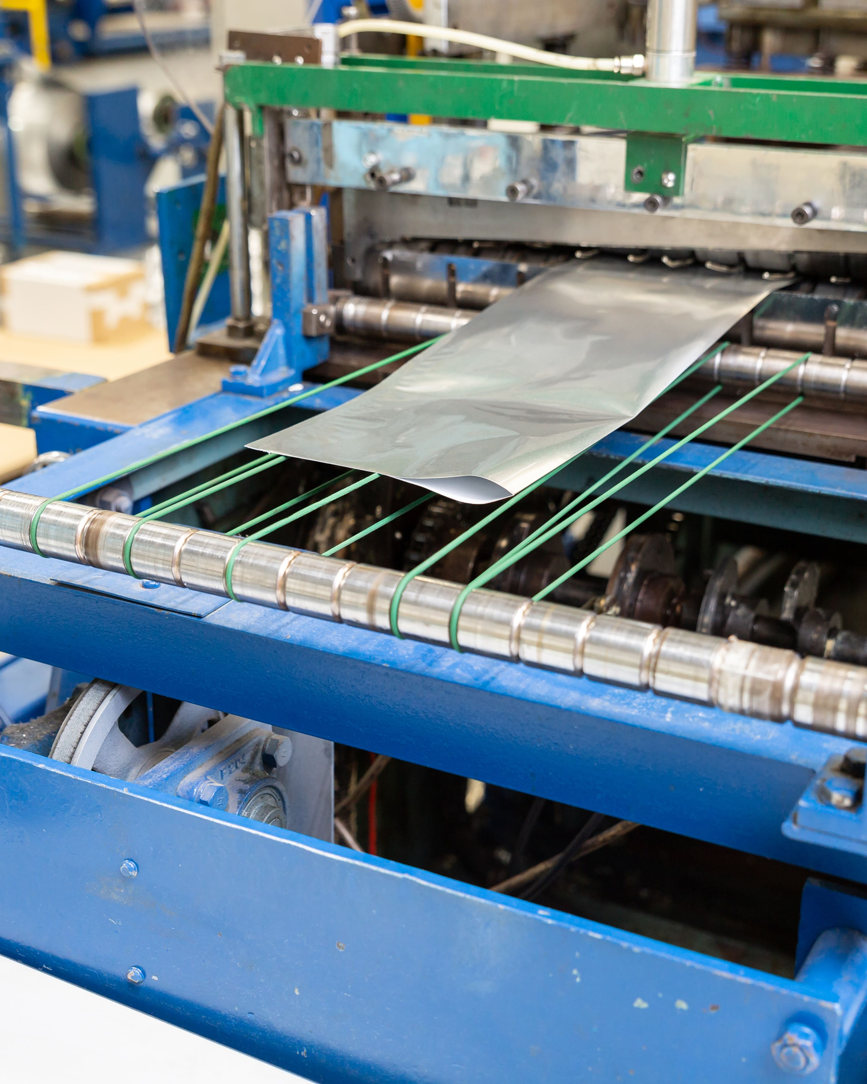 L shaped bag being produced in the UK