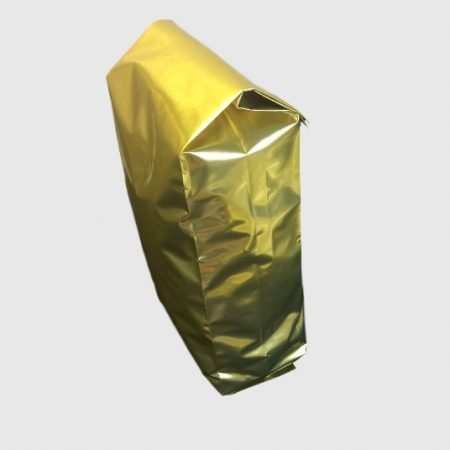 A Side Gusset Bag in Gold which holds approx. 500g of coffee