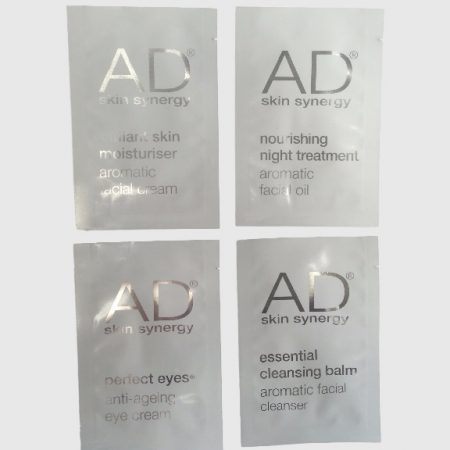 These are single colour print cosmetic sample sachets